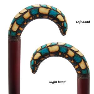 عصا سنتی فیروزه ای