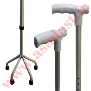 عصای چهار پایه آلومینیومی قابل تنظیم وایکارد