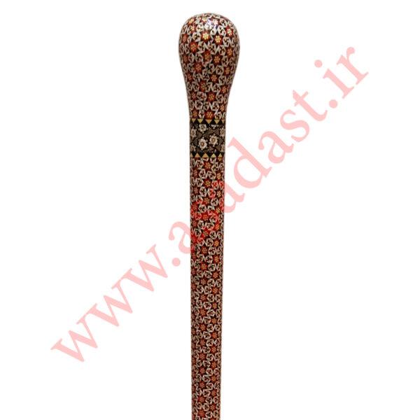 عصای چوبی شاهی خاتم کاری FSG31