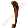 عصای کلکسیونی منبت کاری شده طرح مار مدل King Cobra