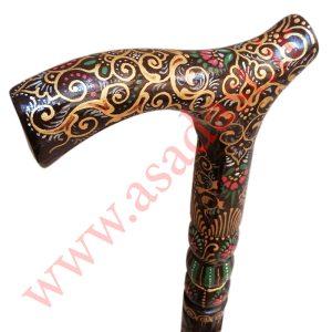 عصا نمین سلطنتی طرح فرش دستباف شاه عباسی