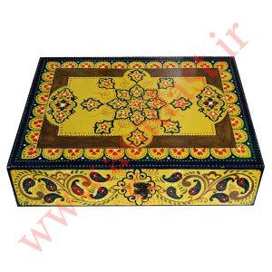 تخته نرد نمین نقش فرش فرش هندسی ستاره کد BG-B716-35.25.7