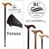 عصای دست ساز ترزا طرح کمپانی CAVAGNINI ایتالیا رنگ مشکی