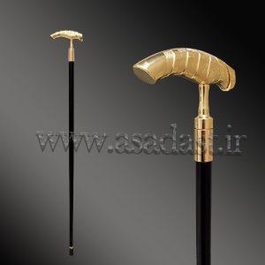 عصای فلزی طلایی