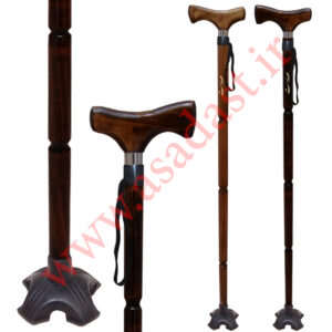 عصای چوبی چهار پایه بیتا