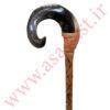 عصای شاخ قوچ چوب راش مدل چوب دست