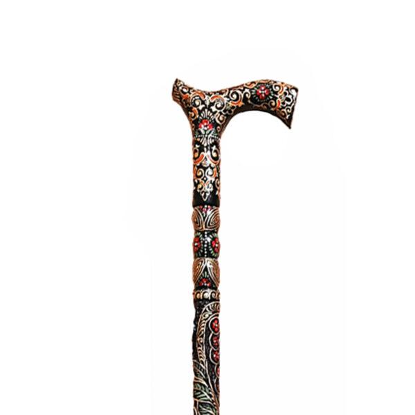 عصا نمین سلطنتی طرح فرش شاه عباسی رنگ مشکی