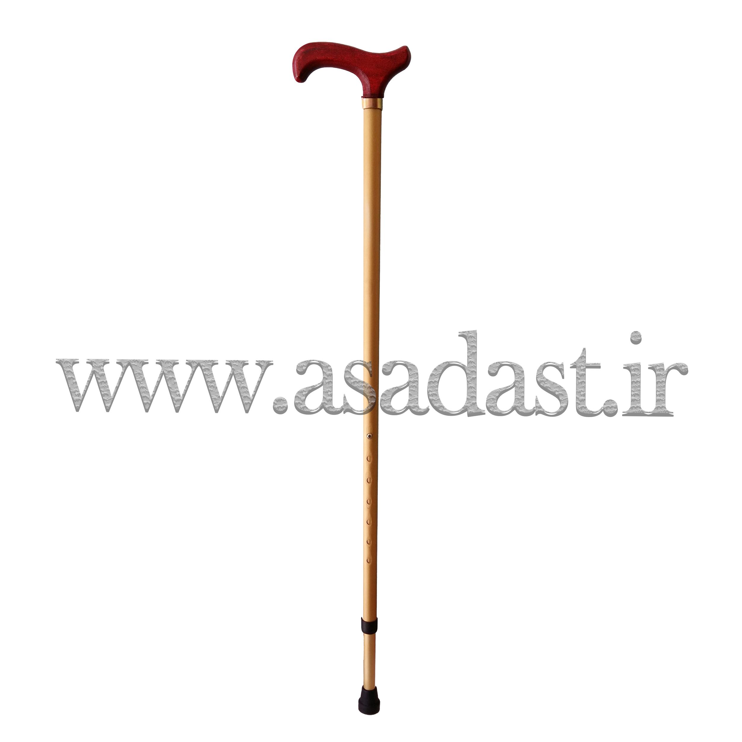 عصای دسته چوبی قابل تنظیم مدل 2-1021