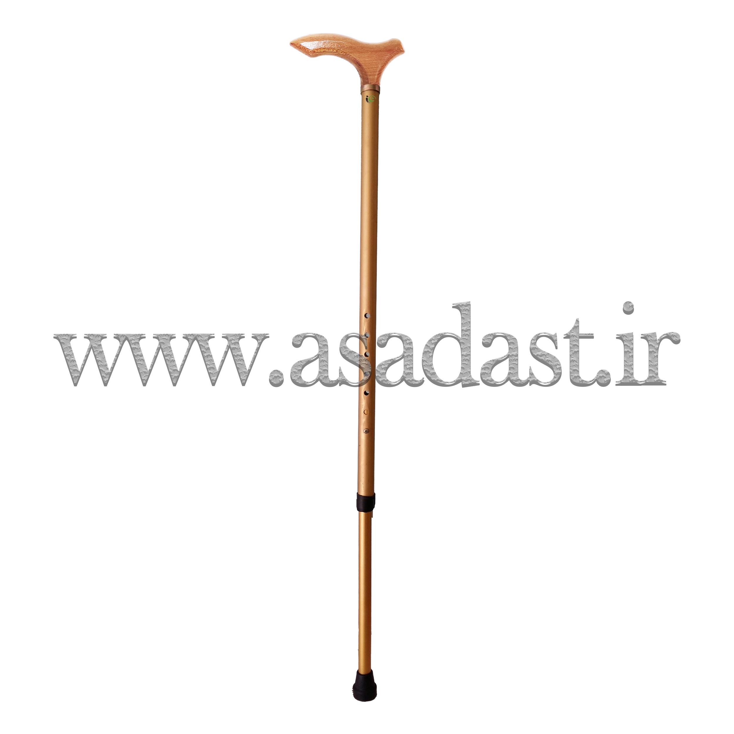عصای آلومینیومی دسته چوبی قابل تنظیم مدل 1-1023
